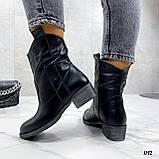 Женские ботинки черные ЗИМА натуральная кожа, фото 4