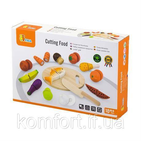 Игрушечные продукты Нарезанная еда из дерева