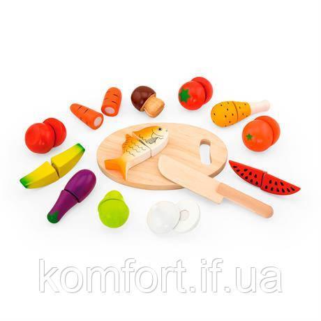 Игрушечные продукты Нарезанная еда из дерева, фото 2