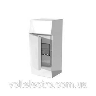 Розподільний щиток зовнішній з білими дверцятами, 4 мод. ABB Mistral41