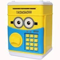 Детская копилка сейф Миньон с кодовым музыкальным замком для денег
