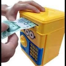 Детская копилка сейф Миньон с кодовым музыкальным замком для денег, фото 2