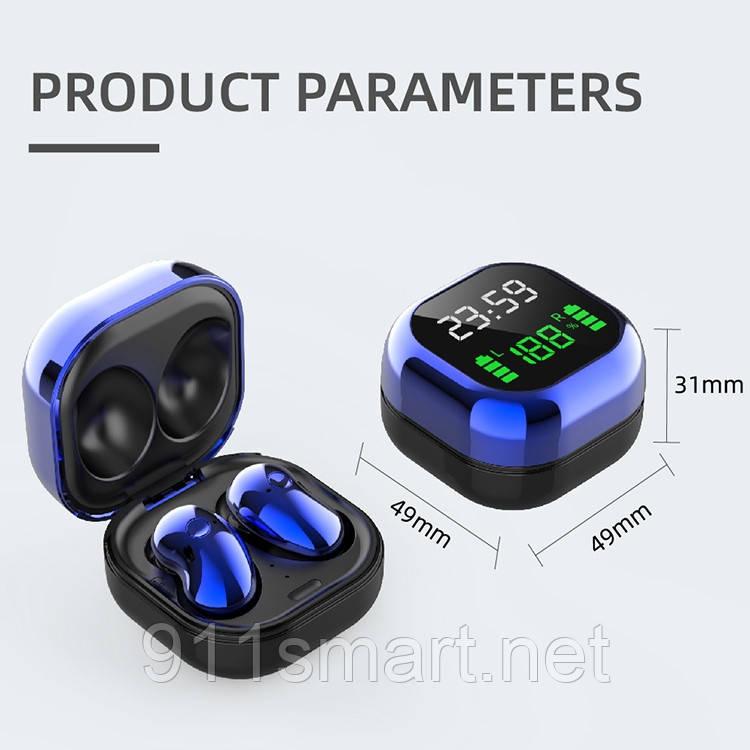 Наушники S6 Plus Bluetooth 5.1  Stereo Smart Touch Apple, Samsung, Xiaomi