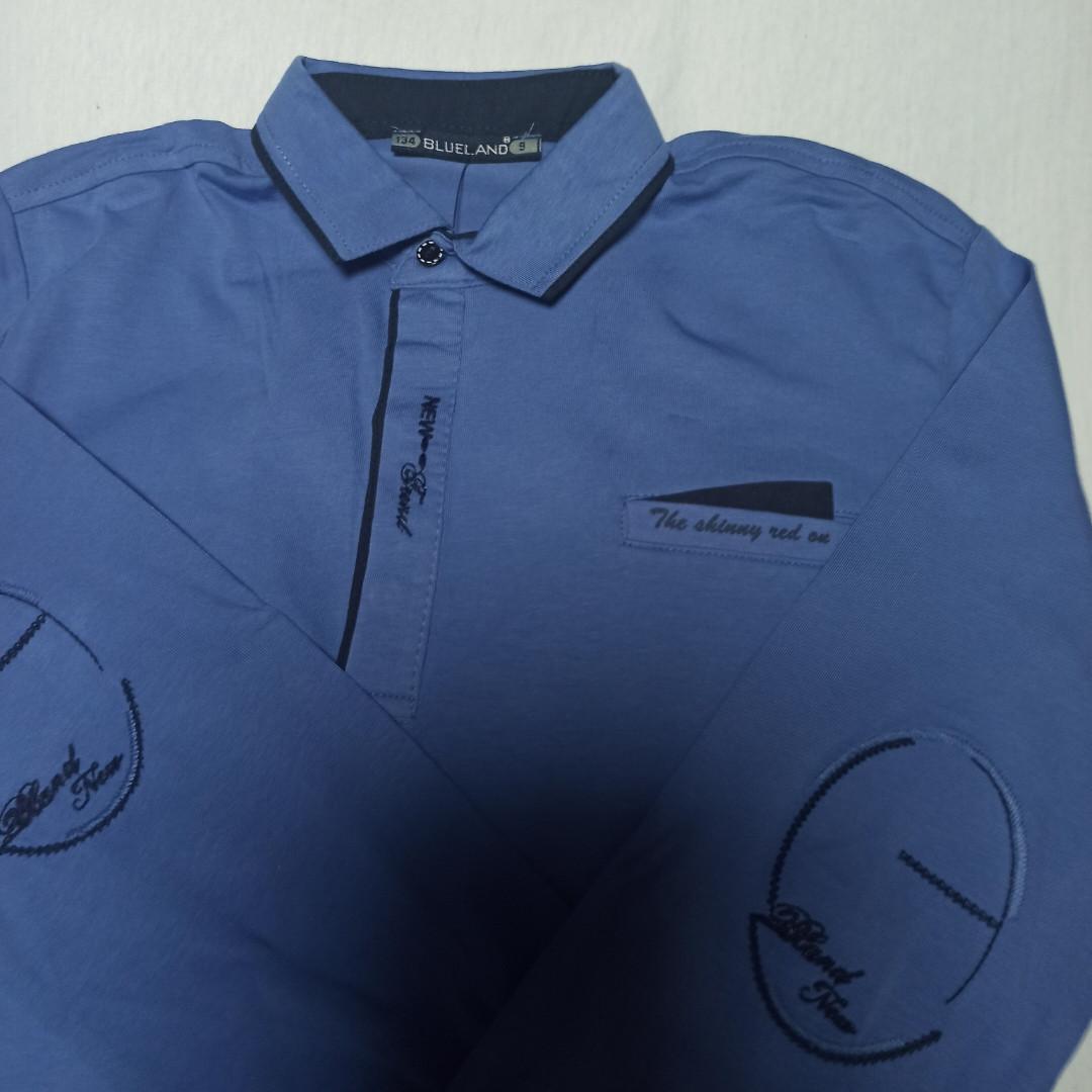 Рубашка модная красивая нарядная трикотажная для мальчика. Стильная и оригинальная.