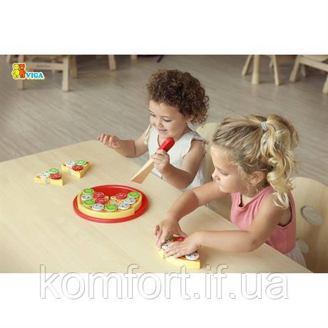 Іграшкові продукти Піца з дерева, фото 2