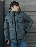 Зимняя куртка мужская серая Staff heat gray М (48/50)