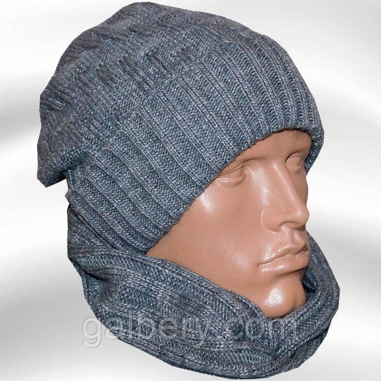 Утепленная шапка - носок спортивного силуэта