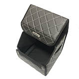 Саквояж с лого в багажник «MINI» I Органайзер в авто черный Мини, фото 3