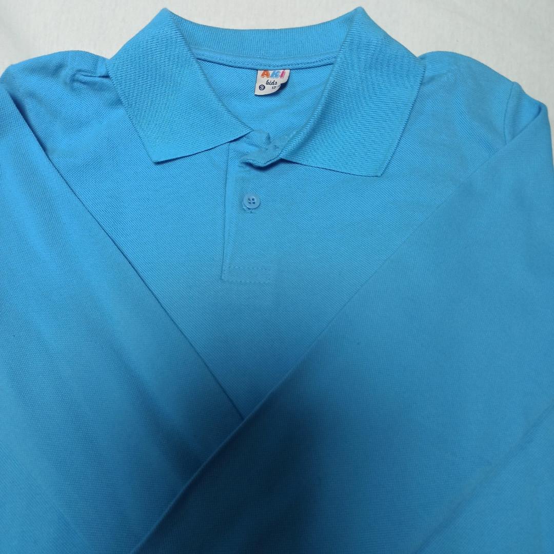 Рубашка модная красивая нарядная трикотажная для мальчика. Цвет- голубой. Рукав на манжете.