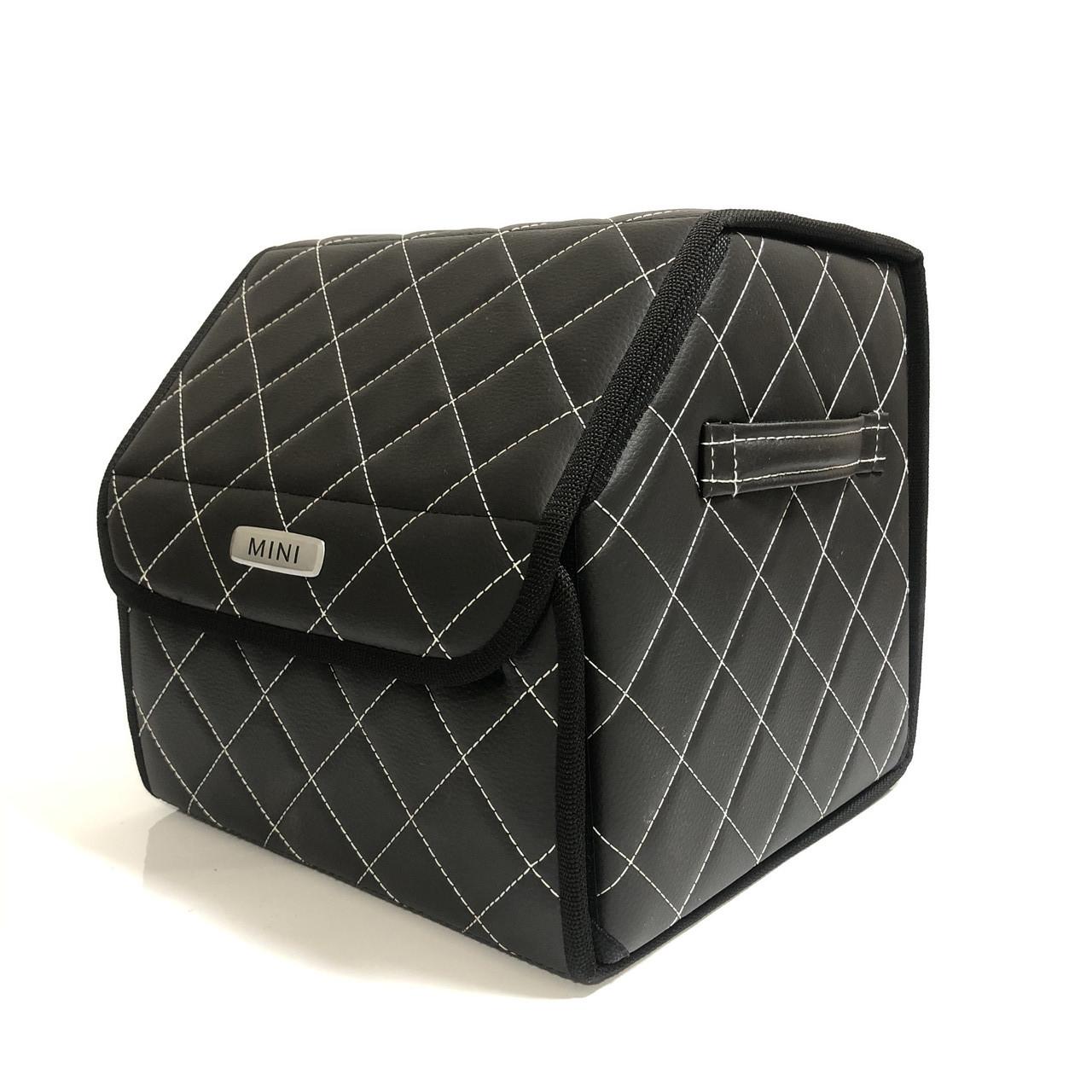 Саквояж с лого в багажник «MINI» I Органайзер в авто черный Мини
