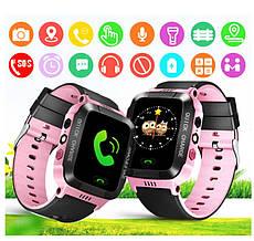 Смарт часы детские с GPS + камера, Pink