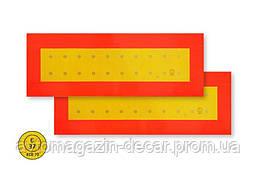 """Табличка свето-отражающая 20х56см  """"Длинномер"""" (2шт) 2сорт(наклейка)  E37"""