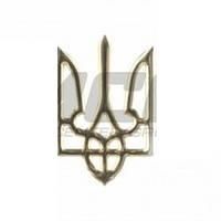 """Наклейка силикон """"Герб"""" контур золото  (5x8)"""