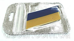 """Наклейка силикон """"Флаг Украины"""" (60х35мм) (в инд.упаковке)"""