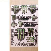 """Наклейка МОТО """"Monster"""" (33x22)  большая №8"""