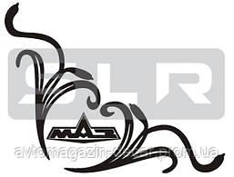 Наклейка на боковое стекло  черная  Логотип MAZ углом 32х32 см (2-шт компл.)