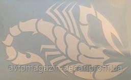 Наклейка  плотерная №26 Скорпион 20x13см Белая