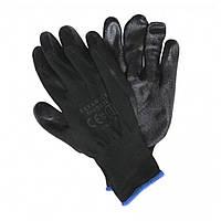 Перчатки акрил 12 шт  (тонкие) GUIDE Т9 стрейч +заливка Черные