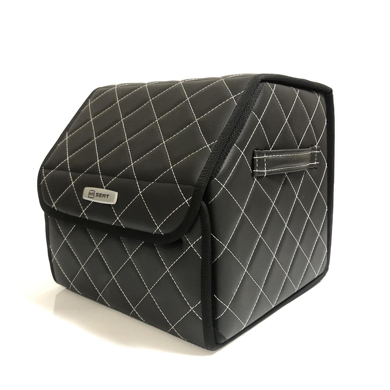 Саквояж с лого в багажник «SEAT» I Органайзер в авто черный Сеат