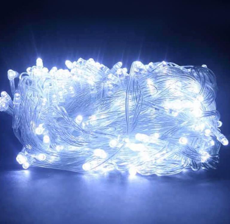 Светодиодная гирлянда Xmas Нить 200 LED БЕЛЫЙ (прозрачный провод,15 метров)