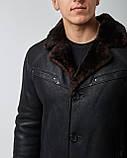 Дубленка мужская из натурального меха и кожи темно-коричневая. Мех овчина. Турция, фото 3