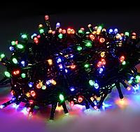 Гирлянда Новогодняя Xmas Нить 200 LED МУЛЬТИК (черный провод,15 метров)