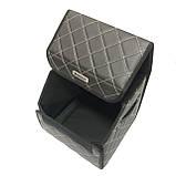 Саквояж с лого в багажник «Fiat» I Органайзер в авто черный Фиат, фото 3