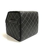 Саквояж с лого в багажник «Fiat» I Органайзер в авто черный Фиат, фото 4