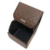 Саквояж с лого в багажник «Fiat» I Органайзер в авто Коричневый ФИАТ, фото 3