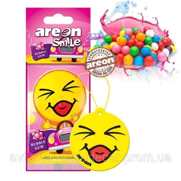 """Освеж.сухой листик - """"Areon"""" - Smile Dry - Bubble Gum (Жвачка) (10шт/360ящ)"""