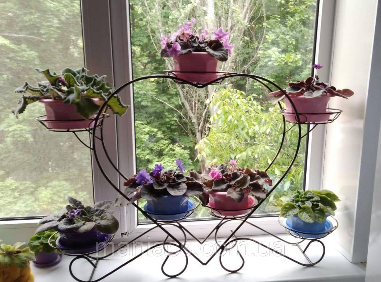 Сердце-2, подставка для цветов на 7 чаш