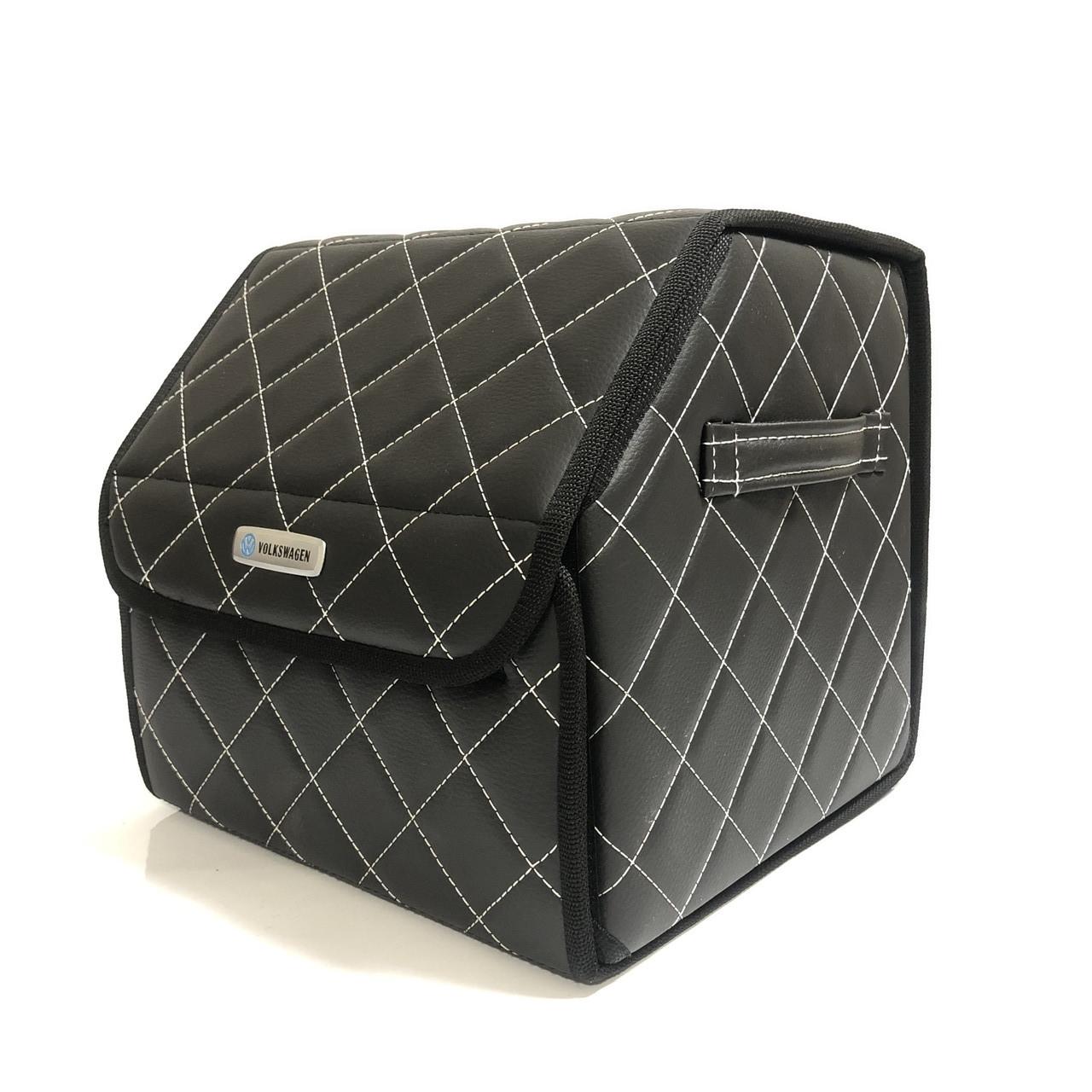Саквояж с лого в багажник «Volkswagen» I Органайзер в авто черный Фольц