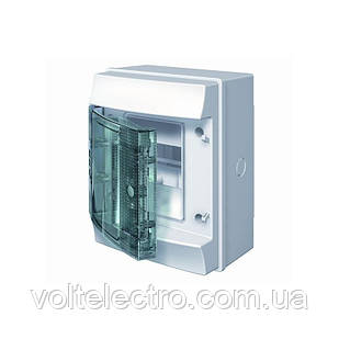 Распределительный щиток наружный с прозрачной дверцей 4 мод. ABB Mistral65