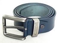 Мужской кожаный ремень Timberland синий, фото 1