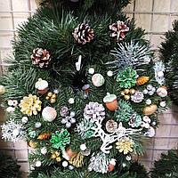 Новогодний рождественский венок 30 см