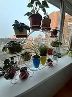 Колесо белое, подставка для цветов на 12 чаш, фото 1
