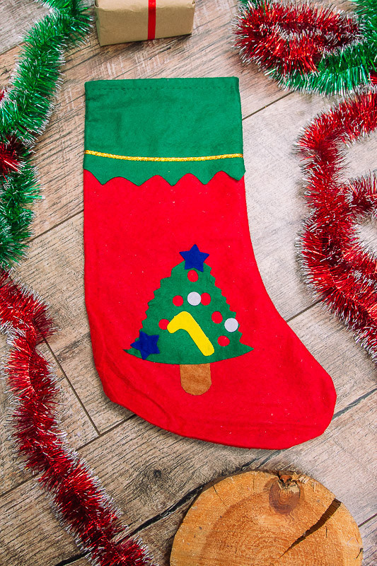 Сапог  носок для подарков новогодний