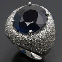 Кольцо серебро 925 пробы сапфир 12,95 карат