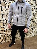 Мужской брэндовый тёплый спортивный костюм Nike на байке 44 46 48 50 52 54 56