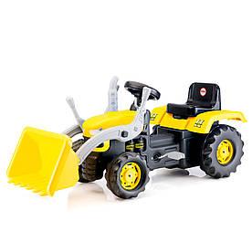 Трактор на педалях DOLU c ковшом Желтый с черным (8051)