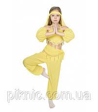 Костюм Восточная Красавица для девочек 5-8 лет Детский карнавальный костюм Восточная Танцовщица Синий 344, фото 3