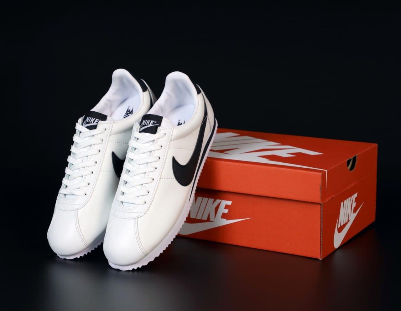 Мужские кроссовки Nike Cortez  белые (копия)