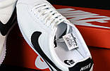 Мужские кроссовки Nike Cortez  белые (копия), фото 4