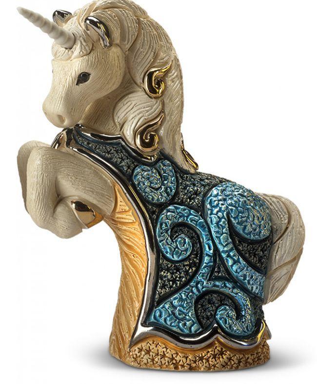 Статуэтка De Rosa Rinconada Единорог Синий