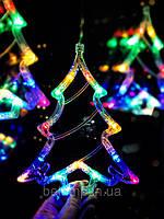 """Новогоднее украшение на окно в виде елки """"Разноцветная елочка"""". Цена за 1 елочку, фото 1"""
