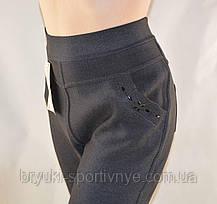 Брюки женские на меху в сером цвете 3XL  Лосины зимние Ласточка - полубатал Брак, фото 2