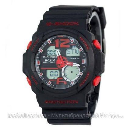 Часы наручные черные Casio G-Shock GA-150 Black/Red / касио джишок черные с красным, фото 2