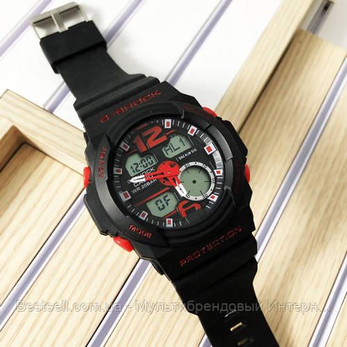Часы наручные черные Casio G-Shock GA-150 Black/Red / касио джишок черные с красным