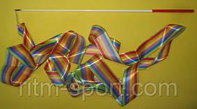 Лента гимнастическая радуга (длина 6 м)