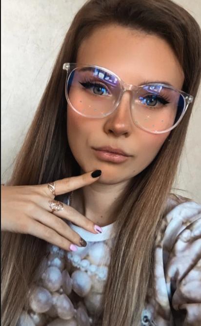 Компьютерные очки, женская оправа для очков 5558-2  прозрачные